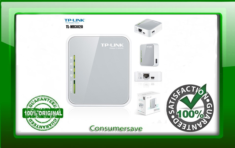 TP-Link TL-MR3020 150Mbps Portable 3G Wireless N Router
