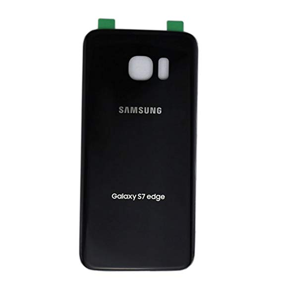 timeless design 384ea 95398 Samsung Galaxy S7 Edge Back Rear Battery Cover with Adhesive (BLACK)