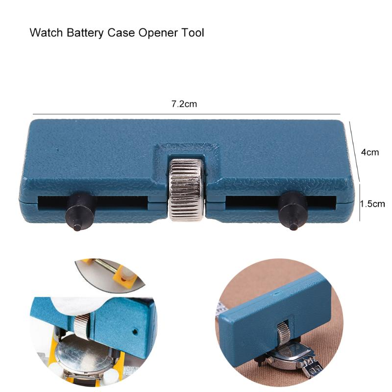 Watch Accessories Watch Repair Tool Kit Watchmaker Back Case Opener Wrench Cover Remover Adjustable Watch Back Case Wrench Opener Repair Screw Repair Tools & Kits