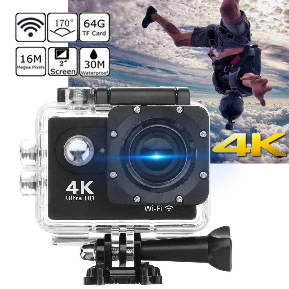 EKEN H9 Action Camera wifi Ultra HD Mini Cam 4K/30FPS 1080p/60fps  720P/120FPS underwater Waterproof Video Sports Camera (WHITE)