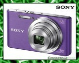 Sony DSCW830V 20.1MP 8x Zoom Digital Camera Violet