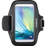 Belkin Sport-Fit Armband for Samsung GALAXY S6, Money, Key - Black - Sweat Resistant - Neoprene - Armband