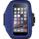 Belkin Sport-Fit Plus Carrying Case (Armband) for iPhone 6 - Blue - Neoprene - Armband