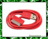 USB Charger Cable Cord for iPod/Nano iPhone ipad RED