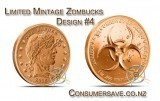 1 Ounce Copper Round Zombucks™- The Barber Limited Mintage #4 Final Mintage: 88,392
