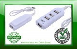 High Speed Mini 4 Port USB 2.0 Hub White