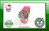 Hello Kitty Watch with Diamantes - Pink Strap