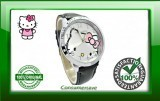 Hello Kitty Watch with Diamantes - Black Strap