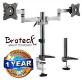 "Brateck 13-27"" Dual Monitor Stand with Clamp & Grommet Base"