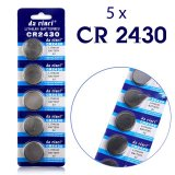 5 x CR2430 Lithium Button Battery DL2430 BR2430 KL2430 Lithium 3V High Quality Battery
