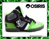 Osiris NYC 83 Shoes - Black / Lime  Size 9.5US