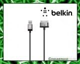 Belkin MIXIT ChargeSync Cable - USB/Proprietary for iPhone, iPod, iPad - 1 x Type A Male USB - 1 x Male Proprietary Connector - Black