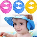 Baby's Hair Wash Hat Shampoo Shower Cap with Ear Protection PINK