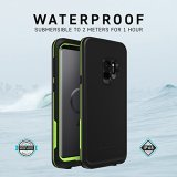 LifeProof Fre for Galaxy S9 - For Smartphone - Night Lite - Water Resistant, Dirt Proof, Snow Proof, Debris Resistant, Scuff Resistant, Drop Resistant, Scratch Resistant, Shock Resistant, Drop Proof, Snow Resistant, Water Proof - 2000 mm Drop Height
