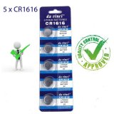 5 x CR1616 Button Batteries DL1616 ECR1616 LM1616 Cell Coin Lithium Battery