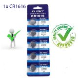 1 x CR1616 Button Batteries DL1616 ECR1616 LM1616 Cell Coin Lithium Battery