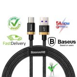 Baseus 5A USB Type C Cable For Huawei Mate 20 P30 P20 Pro Lite Samsung HTC MEIZU OPPO Xiaomi HonorMobile Phone(BLACK) 2M