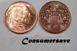 Tube of (25) - NMS 1/4 Ounce Copper Round - 2011 Indian Head