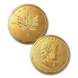 1 gram gold coin - 2016 50c Canadian MapleGram - Royal Canadian Mint RCM