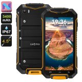 Geotel A1 Rugged Smartphone - Android 7.0, Dual-IMEI, IP67, Quad-Core CPU, 4.5 Inch Display, 3400mAh, 8MP Camera (Orange)