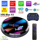 H96 Max X3 Android 9.0 Amlogic S905X3 4GB 32GB 2.4G/5G Dual WiFi USB3.0 BT4.0 8K 4K H.265 UHD Media Player w/Backlit Remote