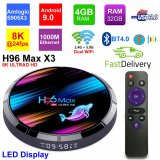 H96 Max X3 Android 9.0 Amlogic S905X3 4GB 32GB 2.4G/5G Dual WiFi USB3.0 BT4.0 8K 4K H.265 UHD Media Player