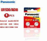 PANASONIC 2 Pcs AG10 389 SR1130 189 LR54 G10A Alkaline Battery