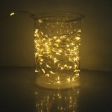 Solar String LED Lights, Solar Outdoor Lights,5M 50LED Warm White Colour