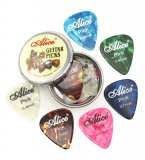 Alice 12 guitar picks with Metal Box for acoustic electric bass guitar musical instruments thickness mix 0.46mm 0.71mm 0.81mm
