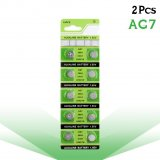 2Pcs/card Coin Cells AG7 1.5V Lithium Button Battery LR927 LR57 SR927W 399 GR927 395A Alkaline Batteries