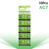 10Pcs/card Coin Cells AG7 1.5V Lithium Button Battery LR927 LR57 SR927W 399 GR927 395A Alkaline Batteries