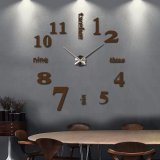 3D Quartz Wall clock DIY Chocolate