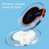 QI Wireless Charger For Samsung S9 S8 Plus S8 S7 Edge S7 S6 Plus S6 iPhone X 8+ 8 WHITE