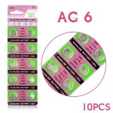 10 x AG6 SR920SW SR69 SG6 371 605 1.55V Button Cell Battery Practical Button Coin Cell Alkaline Battery