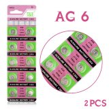2 x AG6 SR920SW SR69 SG6 371 605 1.55V Button Cell Battery Practical Button Coin Cell Alkaline Battery [ clone ]