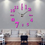 3D Quartz Wall clock DIY Pink