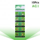 10 x pack AG1 LR621 SR621 164 Button Batteries LR621W CX60 364A Alkaline Battery 1.55V TR621SW