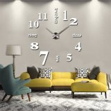 3D Quartz Wall clock DIY White 47""