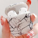 Marble Pattern Shockproof TPU Protective Case for Apple AirPods 1/2(WHITE)