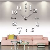 3D Quartz Wall clock DIY Silver
