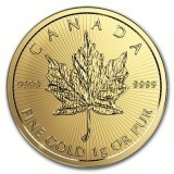 1 gram gold coin - 2017 50c Canadian MapleGram - Royal Canadian Mint RCM