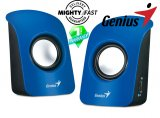 Genius SP-U115 Blue USB Powered Mini Speakers