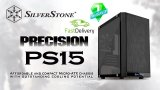 SilverStone PS15B-G Precision mATX Black Mini Tower Case with Black Tempered Glass