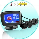 Car Parking Sensor System with LCD Distance Display and Voice Warning