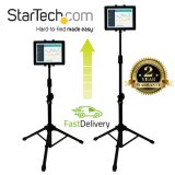 "StarTech.com Adjustable Tablet Tripod Stand - Up to 27.9 cm (11"") Screen Support - 1 kg Load Capacity - 157.5 cm Height x 61 cm Width - Floor Stand, Portable, Desktop - TAA Compliant"