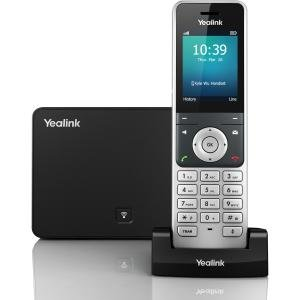 Yealink W56P IP Phone - Wireless - DECT - Wall Mountable, Desktop - Black - VoIP - Caller ID - Speakerphone - 1 x Network (RJ-45) - USB - PoE Ports - Colour - SIP v2, SIP, SNTP, NTP, LLDP, STUN, NAT, UDP, TCP, DHCP, TLS, ... Protocol(s)