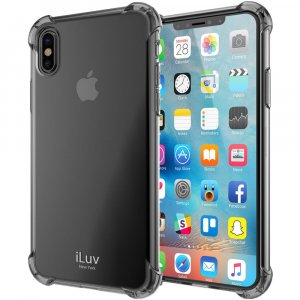 iLuv Gelato - For iPhone X - Black - Smooth - Shock Absorbing, Slip Resistant, Bump Resistant, Scratch Resistant