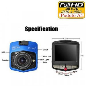 Podofo A1 Mini Car DVR Camera Dashcam Full HD 1080P 2019 New Original G-sensor Night Vision