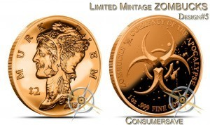 1 Ounce Copper Round Zombucks™- Limited Mintage - Murk Diem #5