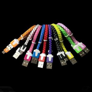 5 x Micro USB Braided Cable for Samsung Sony Xperia HTC Blackberry NOKIA Android Phones 1M